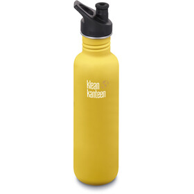 Klean Kanteen Classic Drikkeflaske Sport Cap 800ml, lemon curry matt